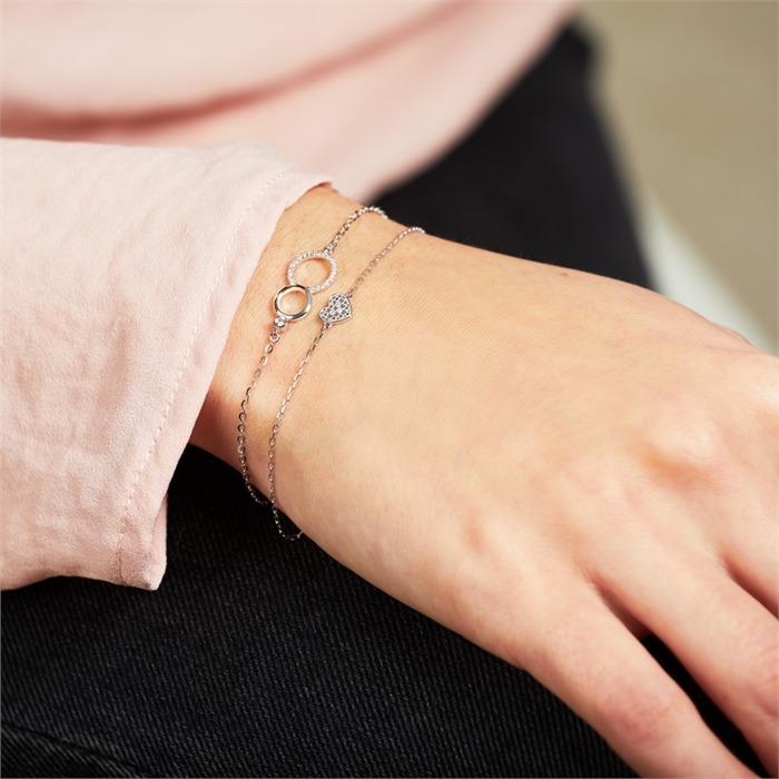Armband Herz aus 14K Weißgold Diamanten