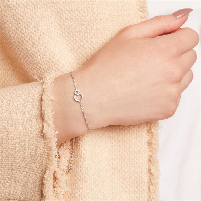 Armband Kreise aus 585er Weißgold mit Diamanten