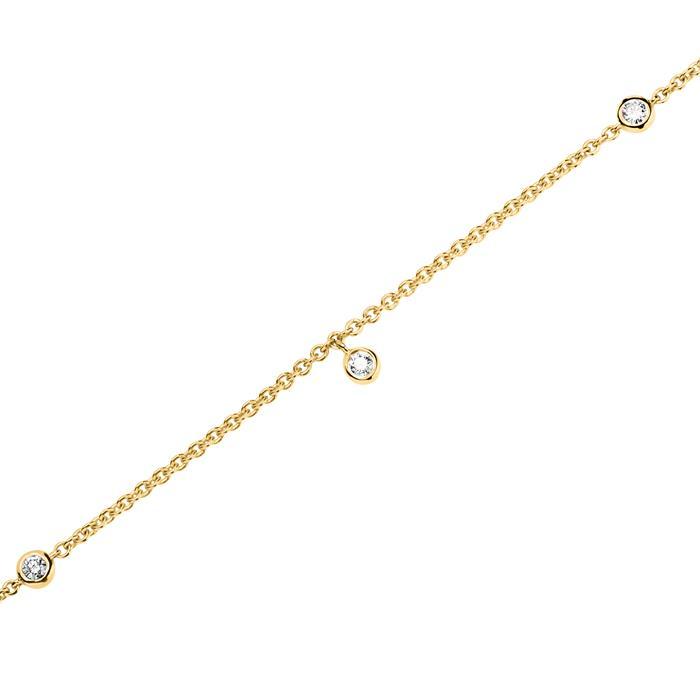 Armband für Damen aus 585er Gold mit Diamanten