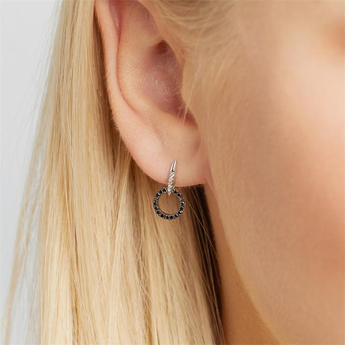Ohrringe mit schwarzen Diamanten 0,25 ct.