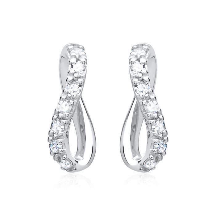 Ohrringe 585er Weißgold 14 Diamanten 0,133 ct.