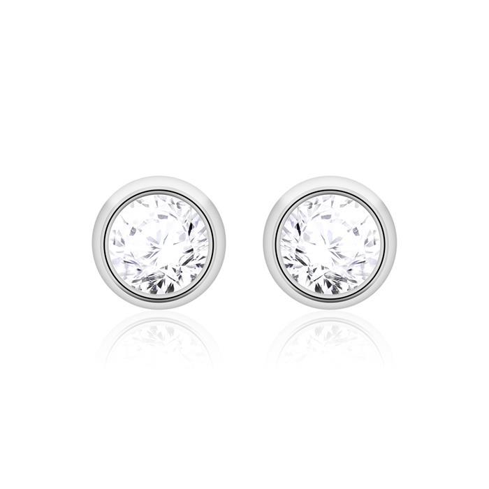 Diamantohrstecker für Damen aus 14K Weißgold
