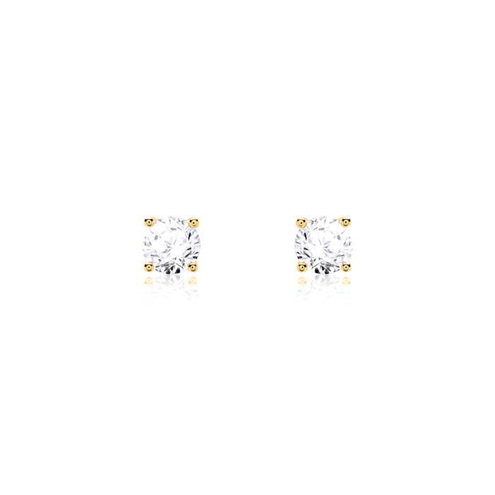 Damen Ohrstecker aus 585er Gold mit Diamanten