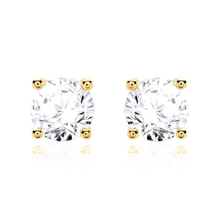 585er Gold Ohrstecker für Damen mit Diamanten