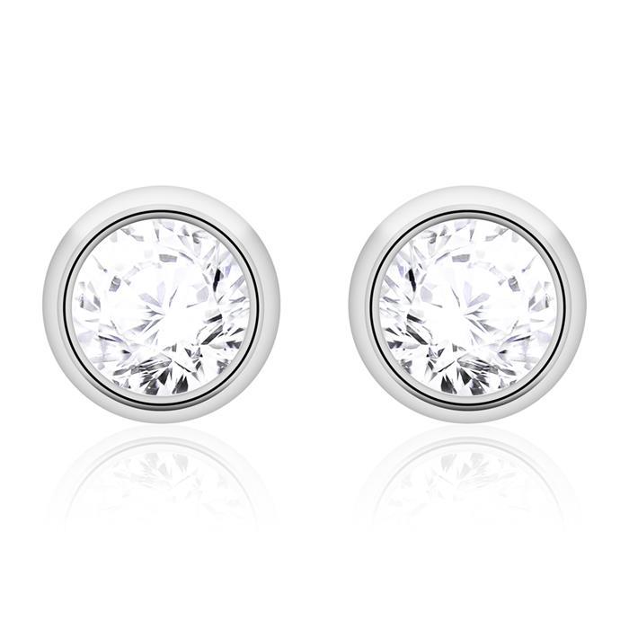 Diamant Ohrstecker für Damen aus 585er Weißgold