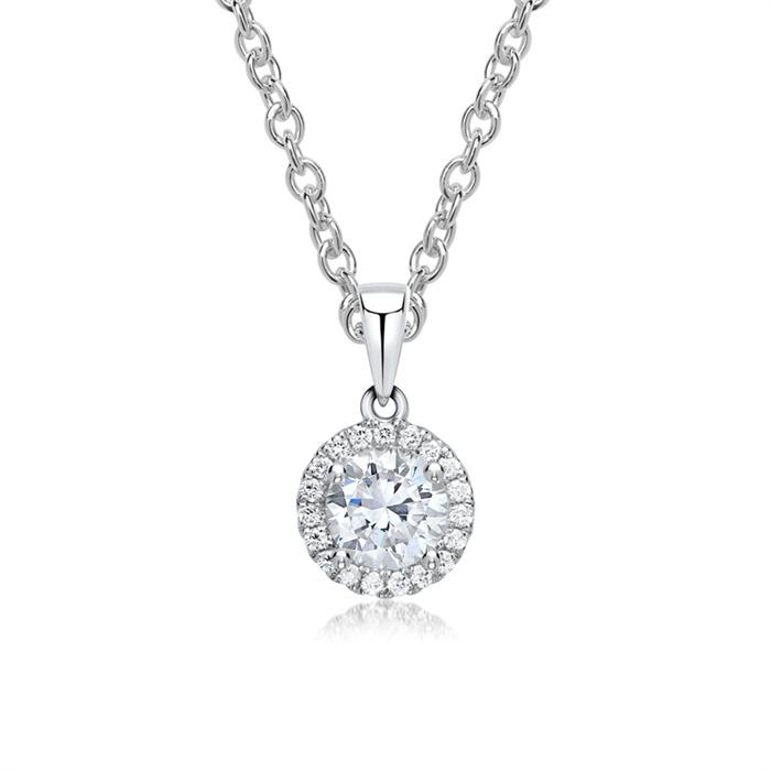750er Weißgold Diamant Anhänger