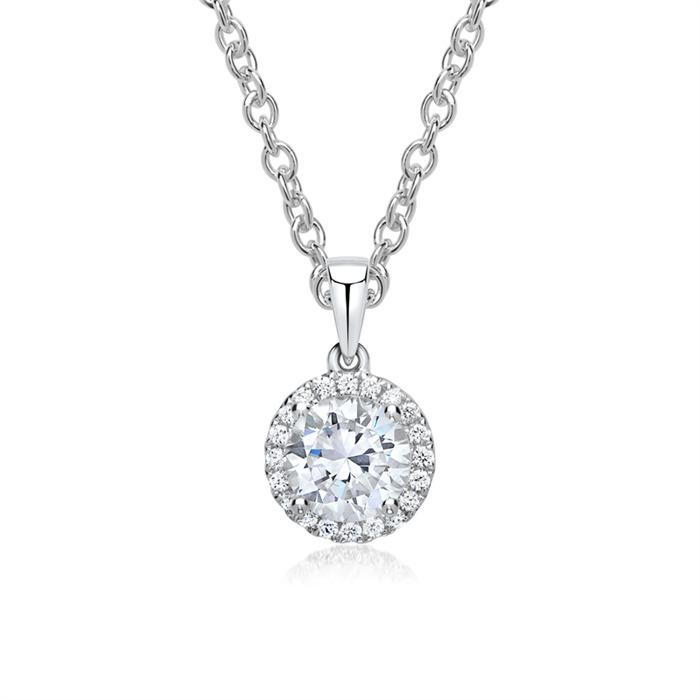 Kette 750er Weißgold Diamanten mit Anhänger