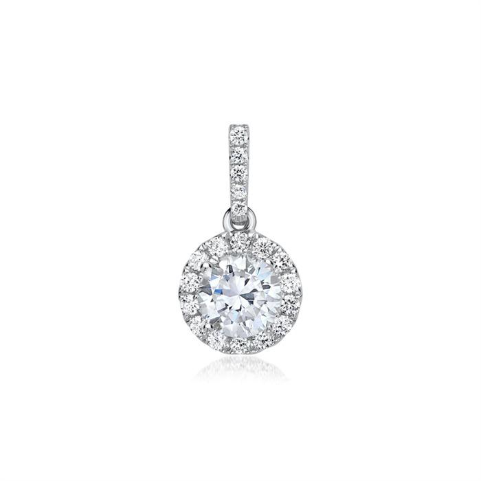 Diamant Anhänger 750er Weißgold