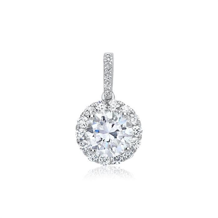 Diamant 1,00 ct. Anhänger 750er Weißgold