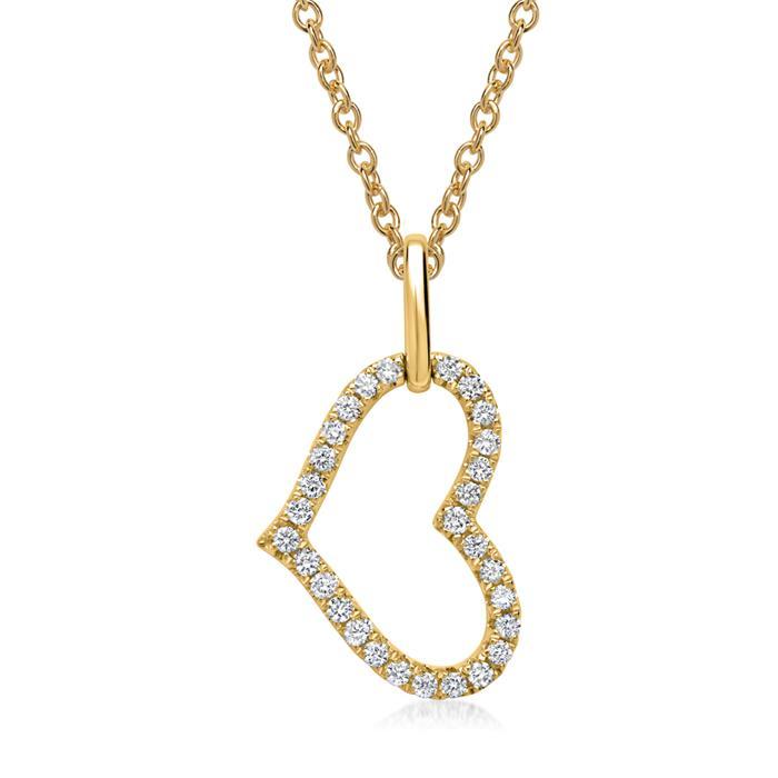 Kette 585er Gelbgold 29 Diamanten 0,15 ct.