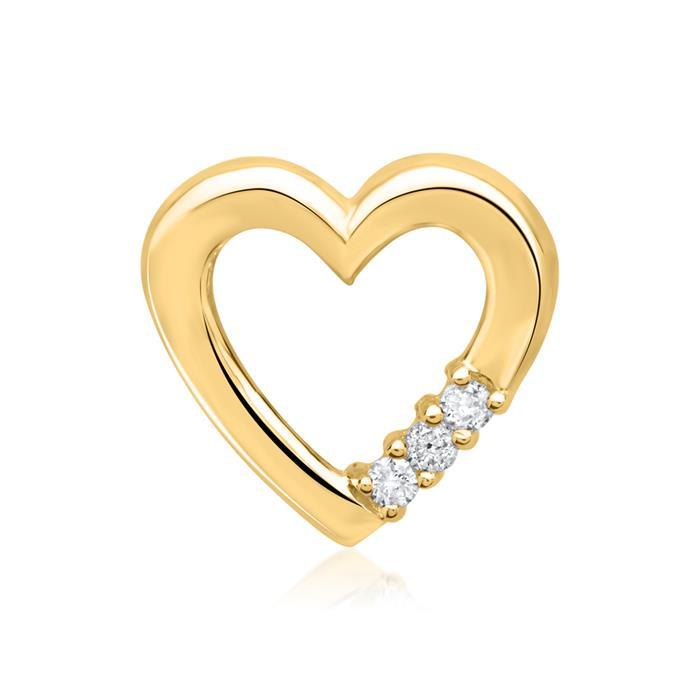 Anhänger 585er Gelbgold 3 Diamanten