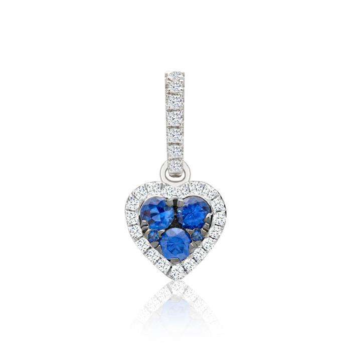 Kette Herzanhänger Diamanten 0,25 ct gesamt