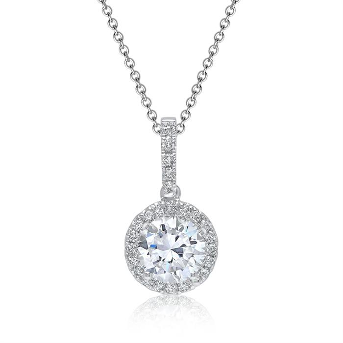 Kette inklusive Diamantanhänger 0,62 ct