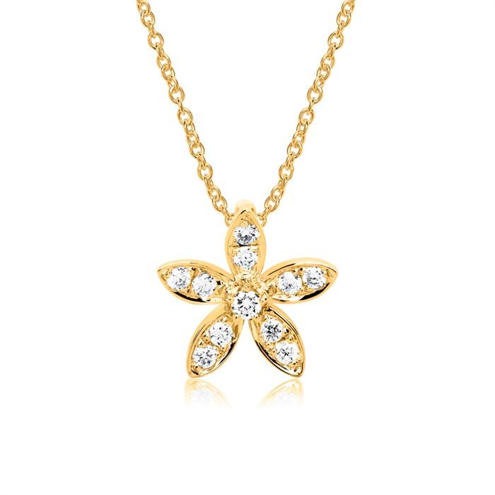Blütenkette 585er Gold Diamant