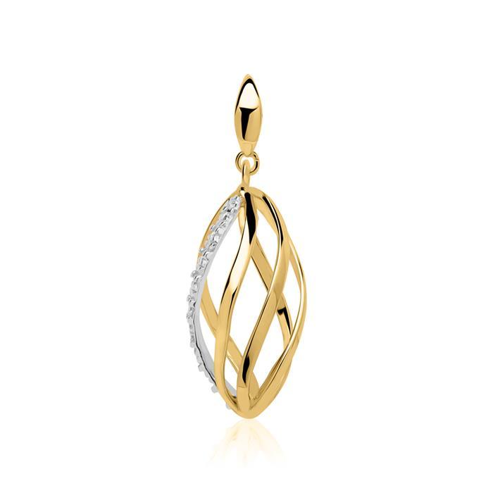 Anhänger aus 585er Gold mit Diamant