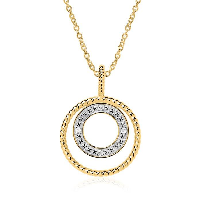 Kette Kreis aus 585er Gold mit Diamanten