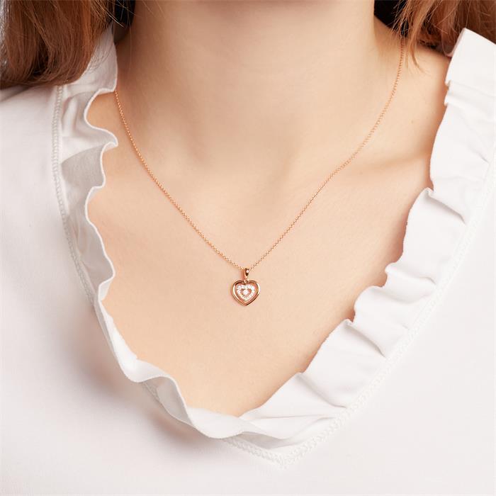 Herzanhänger aus 18K Roségold mit Diamanten