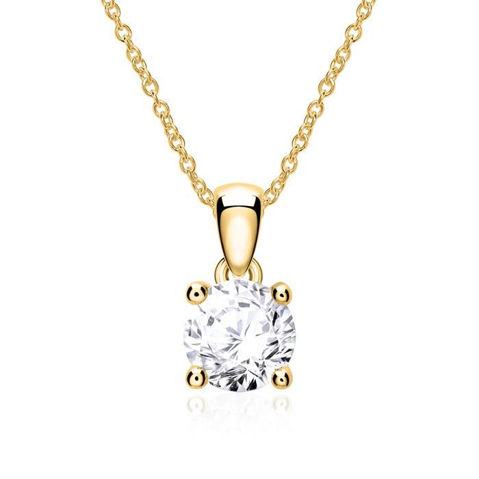 Diamantkette für Damen aus 14-karätigem Gold