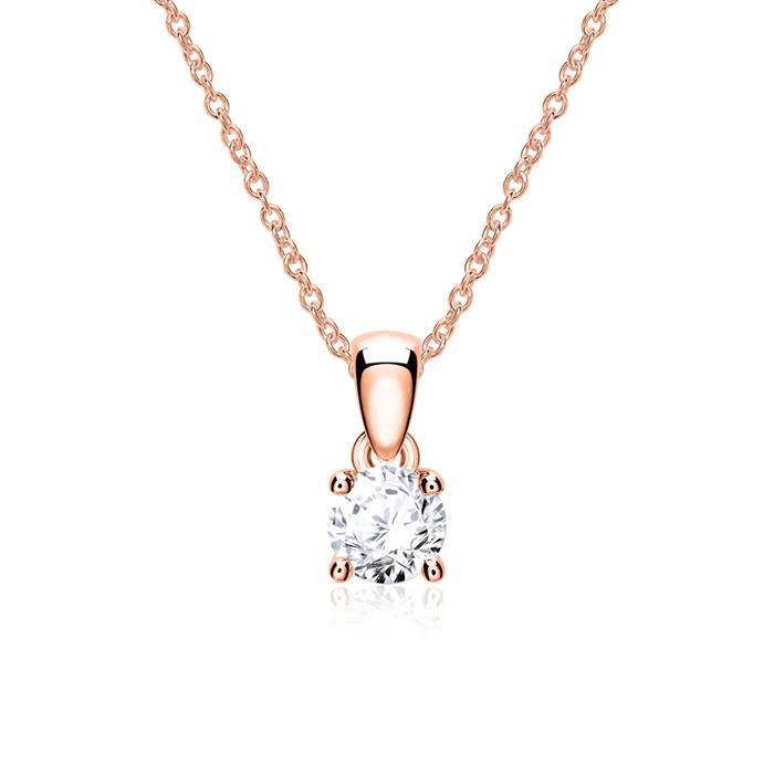 Anhänger aus 14-karätigem Roségold mit Diamant