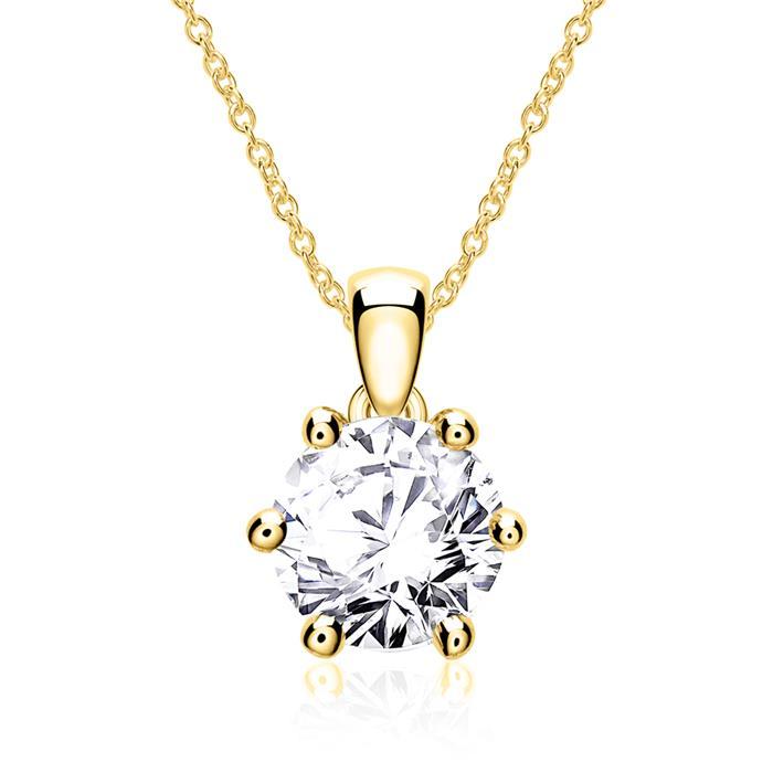 14-karätiger Goldkette mit Brillant