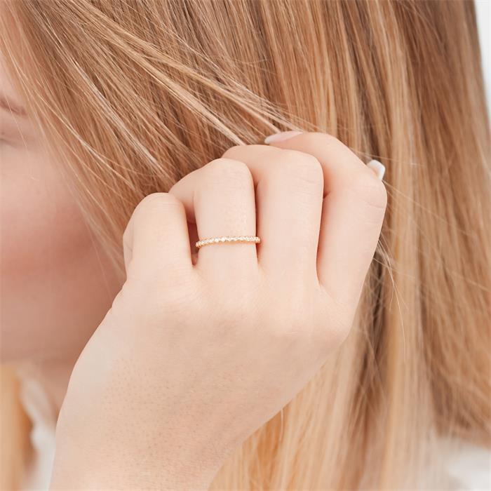 Diamantring Kugelring Gelbgold 0,08 ct gesamt