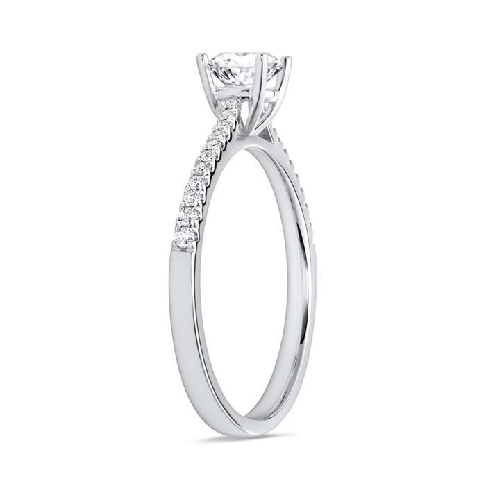 Ring Diamanten 0,64 Karat gesamt 750 Weißgold