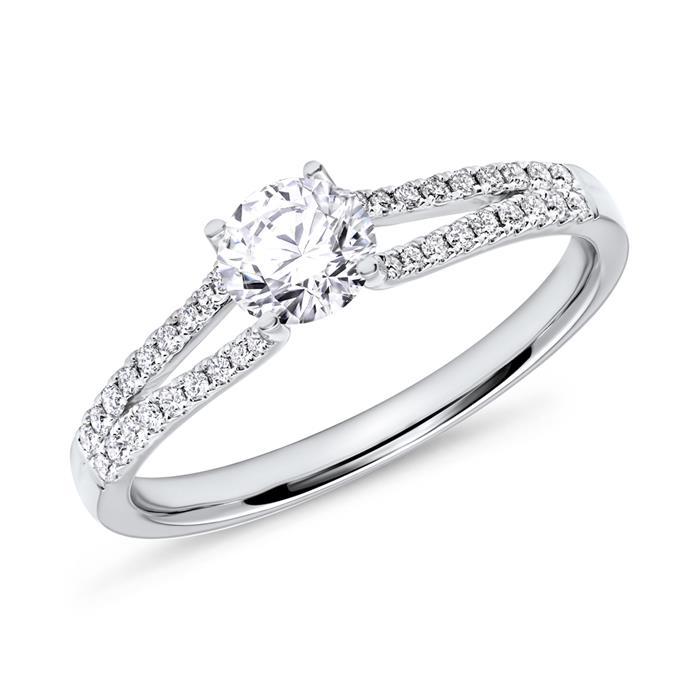 Verlobungsring mit Diamanten 0,50 ct gesamt