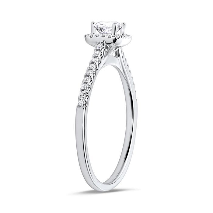 750er Weißgoldring mit 39 Diamanten