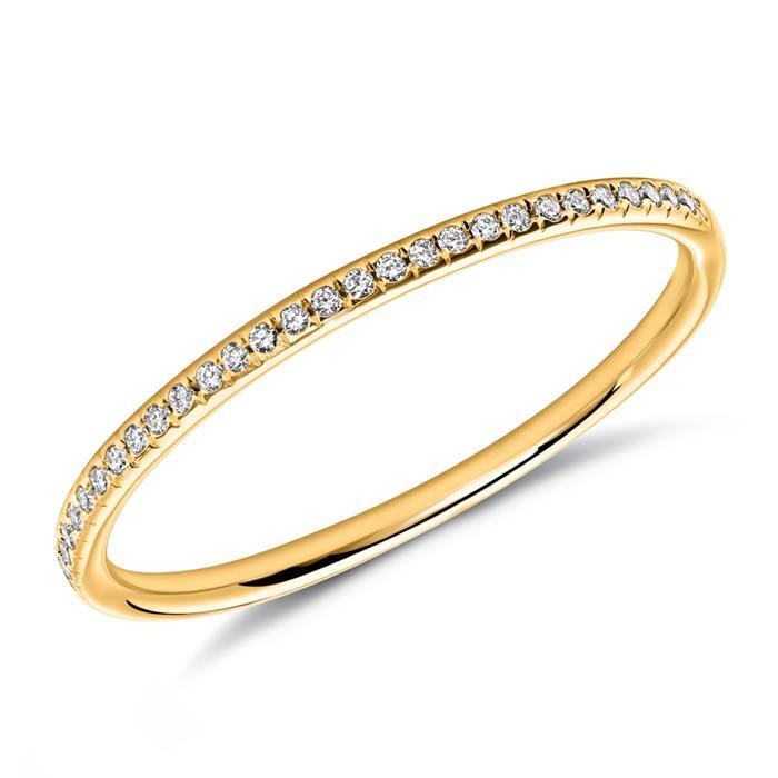 Diamond Ring In 18ct Yellow Gold Diamonds