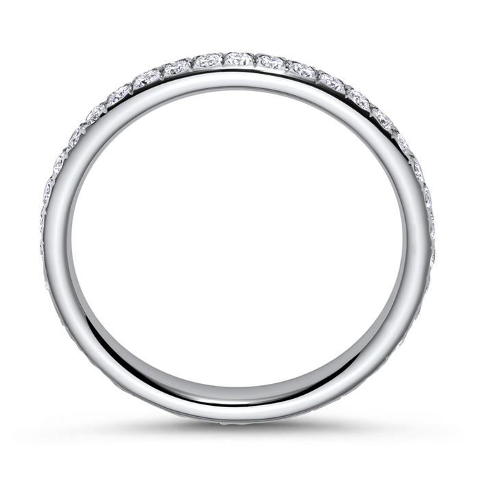 Rhodinierter Diamantring aus 750er Weißgold