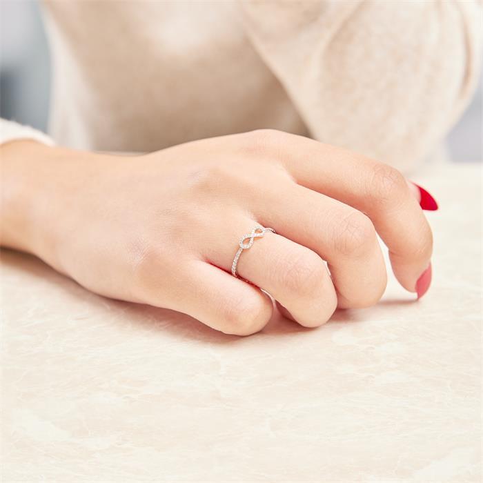 Infinitiyring Diamanten 0,14 ct 750er Weißgold
