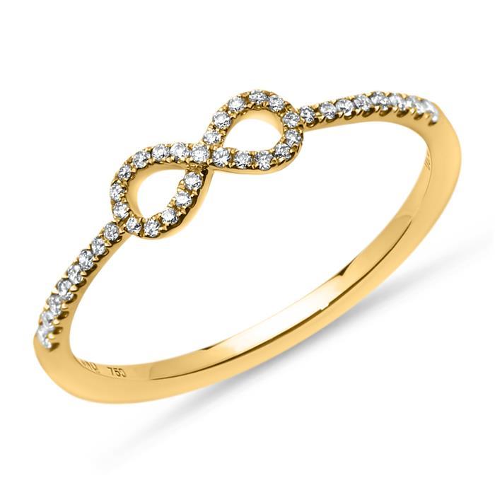 Diamantring Infinity 0,14 ct 750er Gelbgold
