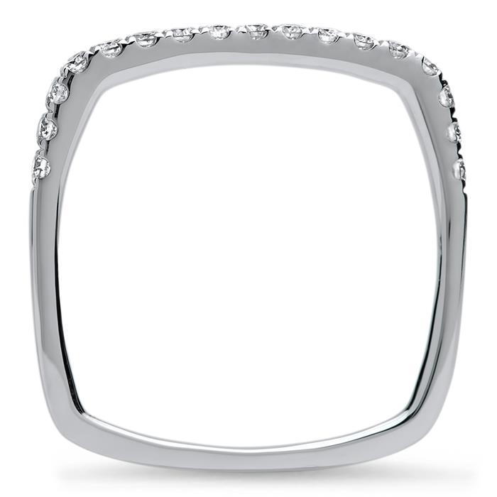 Ring mit 17 Diamanten 0,30 ct 750er Weißgold