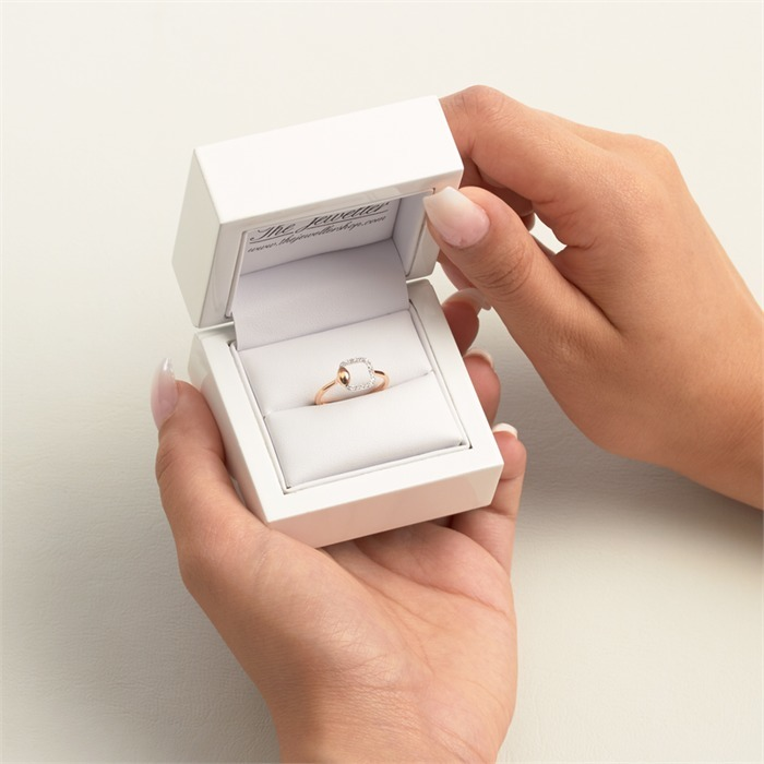 Diamantring 18 Diamanten 0,16 ct. 585er Gold
