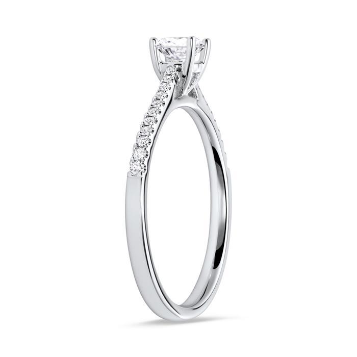 Ring mit 22 Diamanten 0,14ct 750er Weißgold