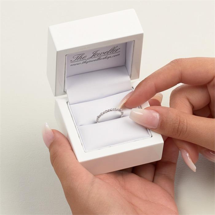 Eternity Ring 750er Weißgold 7 Diamanten