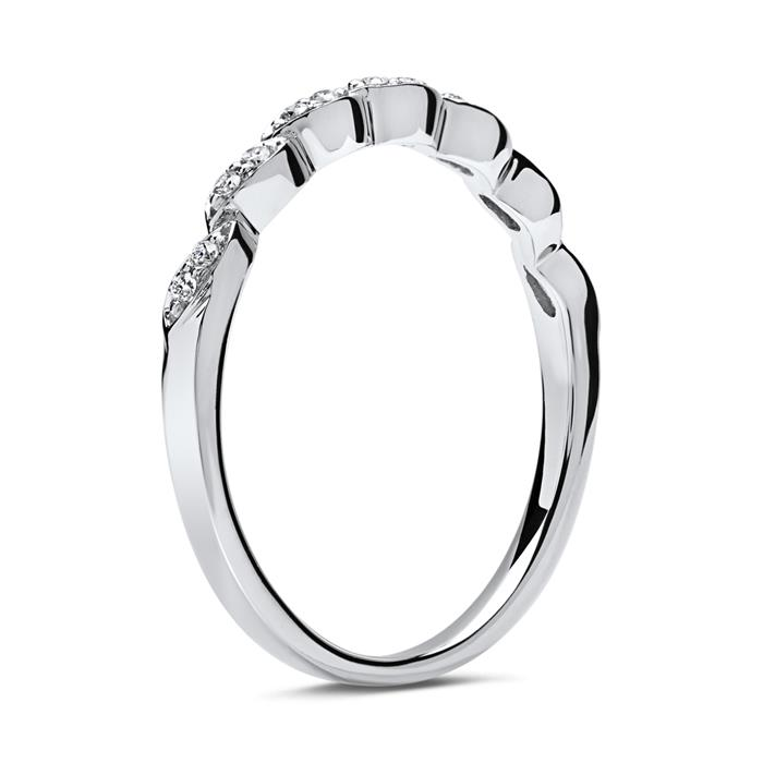 Eleganter 750er Diamantring 14 Diamanten