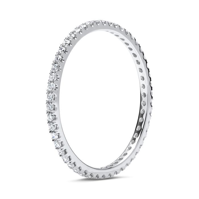 Eternity Ring 585er Weißgold 50 Diamanten