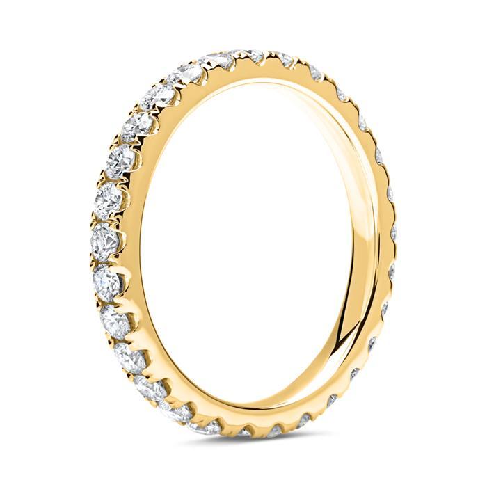 Memoire-Ring 14K Gold 29 Diamanten