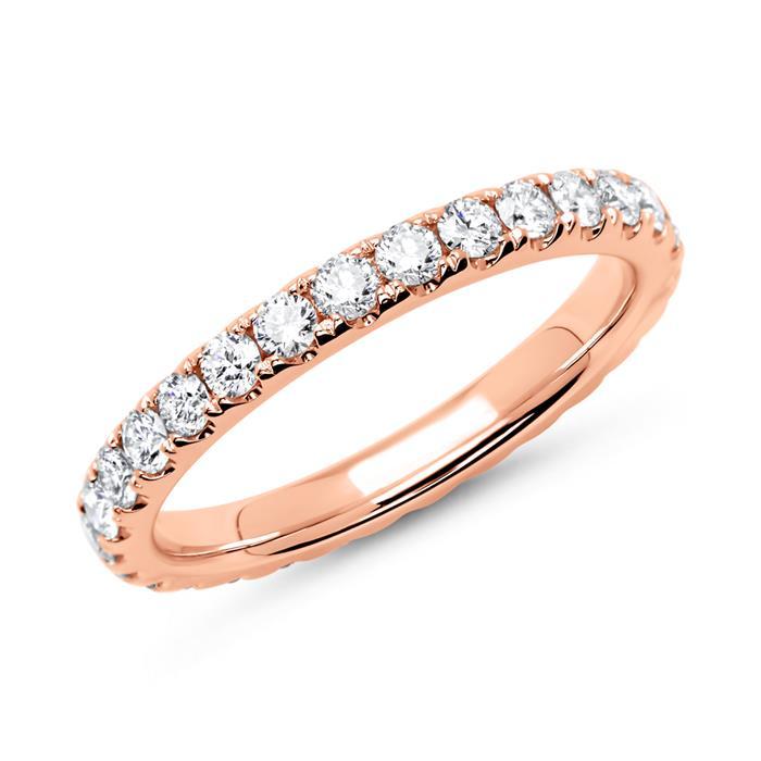 Memoire-Ring 14K Roségold 29 Diamanten