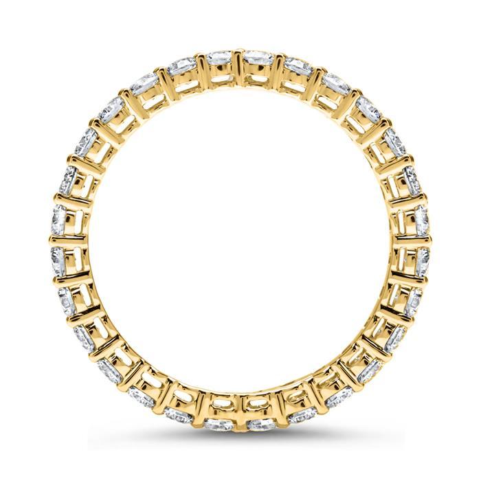 Eternity Ring 750er Gold 28 Diamanten