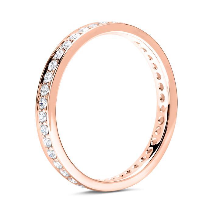Eternity Ring 750er Roségold 39 Diamanten