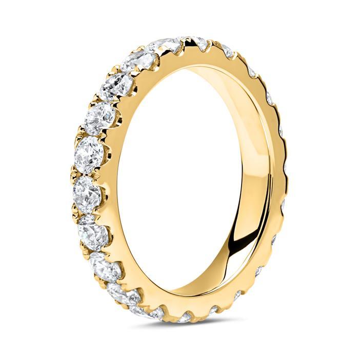 585er Gold Memoire Ring 22 Diamanten
