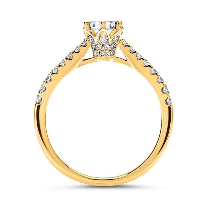 18 Karat Weißgold Ring mit Diamanten