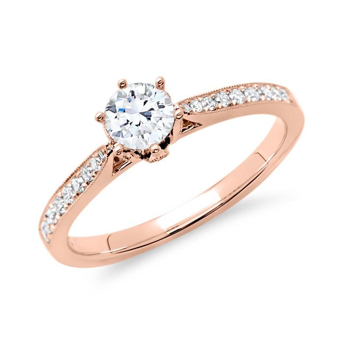Ring 585er Roségold für Diamanten