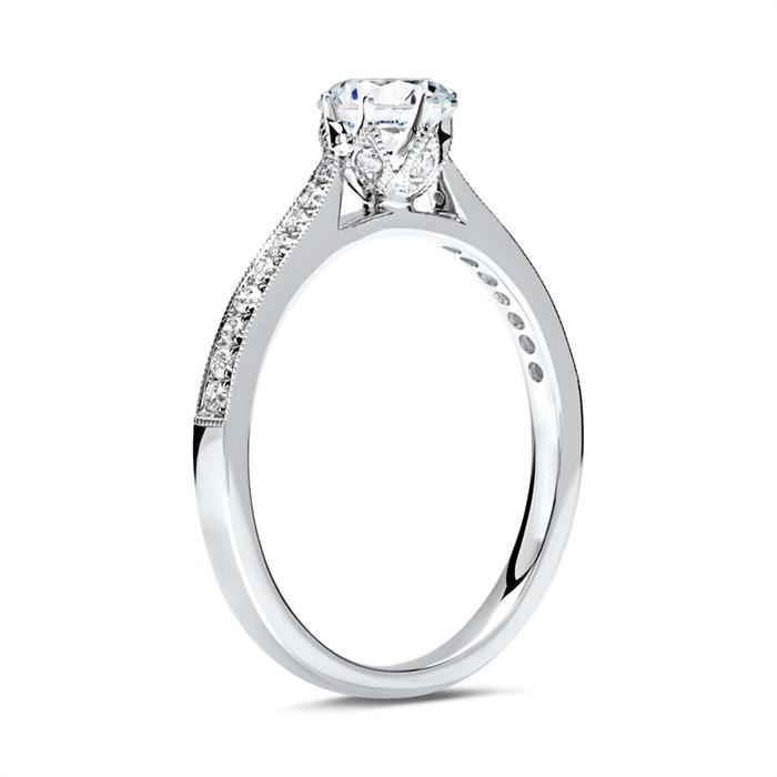 Ring 750er Weißgold für Diamanten