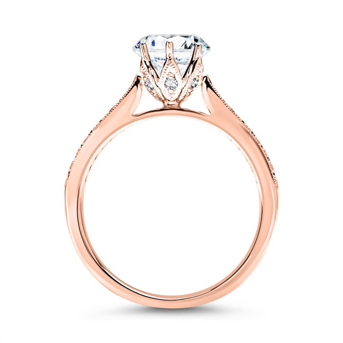 14 Karat Roségold Ring mit Diamanten