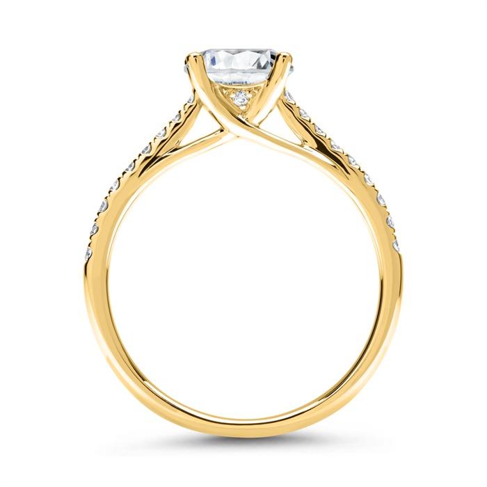 750er Gold Damenring mit Diamanten