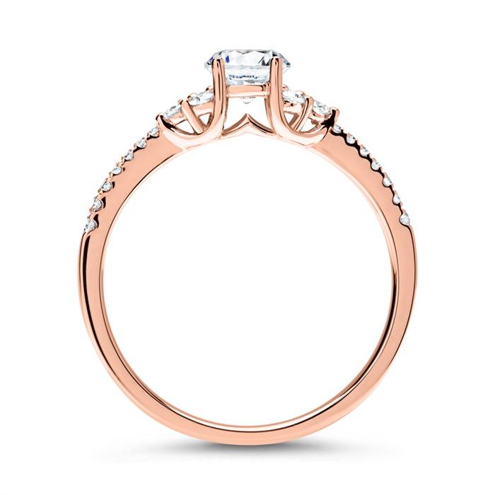 Diamantring 585er Roségold