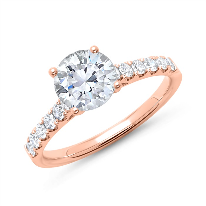 Ring 585er Roségold mit Diamanten